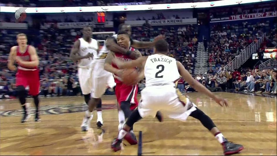 c3f5a5898f6 Kendrick Perkins Used a Wrestling Move to Stop Damian Lillard Last Night  and Was Promptly Ejected