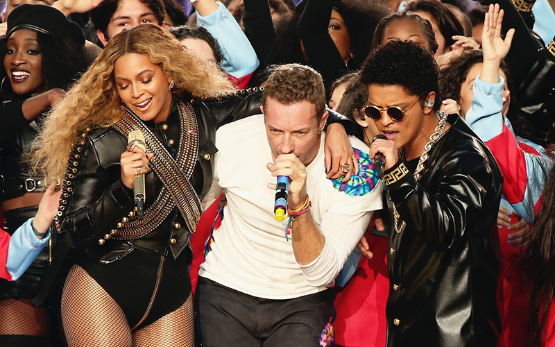 beyonce chris martin bruno mars superbowl