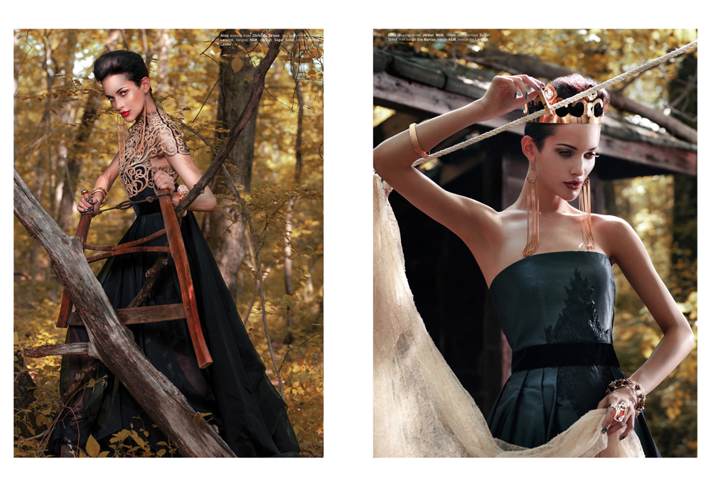 """Into the Wilderness"" fashion editorial for Kurv magazine by ny paris fashion photographer jodi jones. Jodi Jones is an art director and fashion photographer based out of New York City and Paris, France, shooting fashion editorials and ad campaigns."