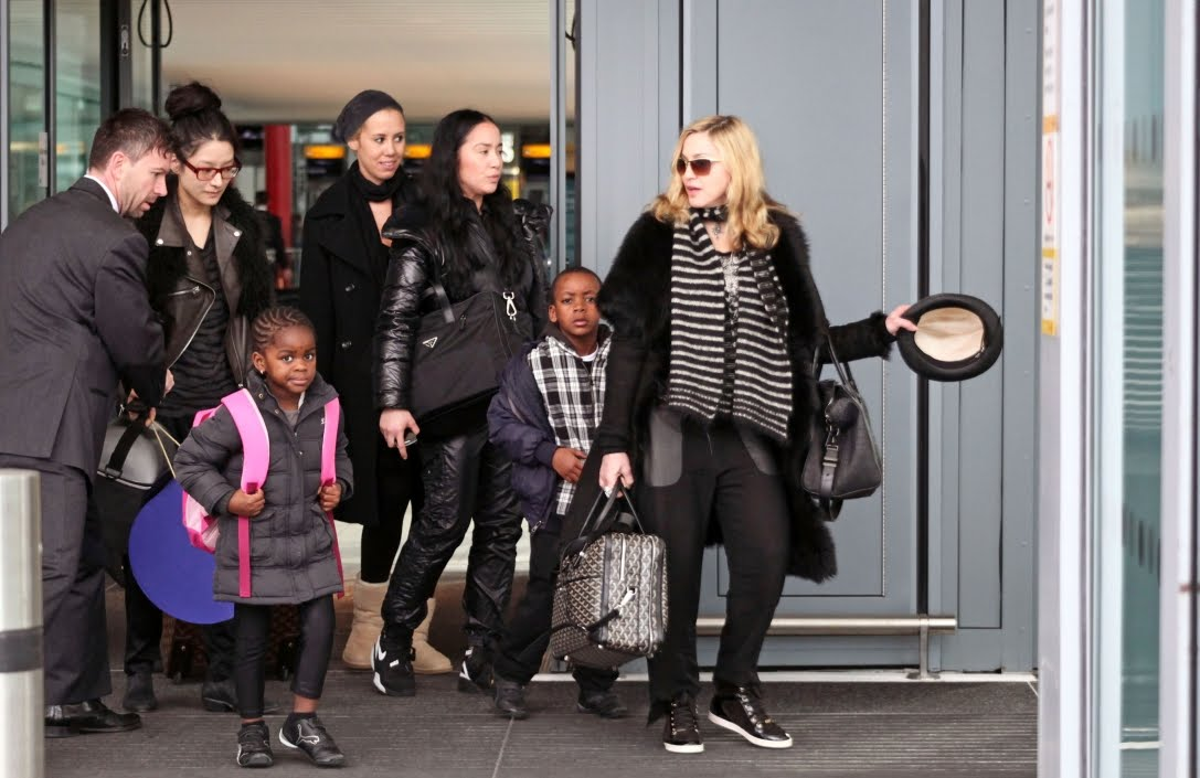 madonna and children heathrow airport