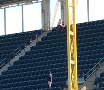 Couple having sex at the game