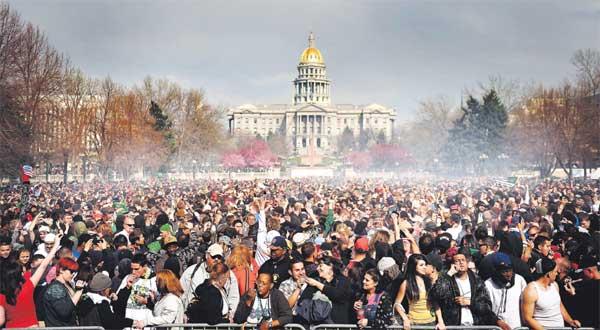 rally of medical marijuana