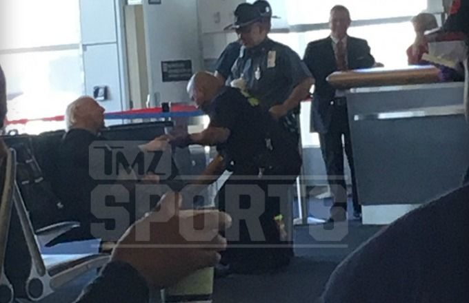 Pro Wrestling Legend Ric Flair Treated At Boston Airport After