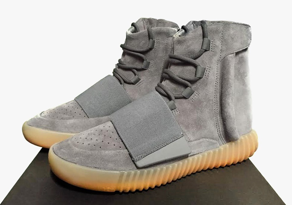 adidas yeezy boost  dark grey gum glow in the dark