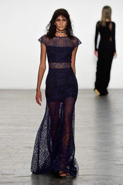 npewh l dress dress fashion week  runway model gown prom dress ny fashion week  mesh dress