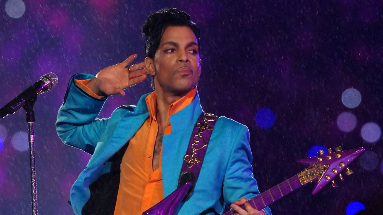 Prince performs at half time during Super Bowl XLI between the Indianapolis Colts and Chicago Bears at Dolphins Stadium in Miami, Florida on February 4, 2007. (Photo by Theo Wargo/WireImage)