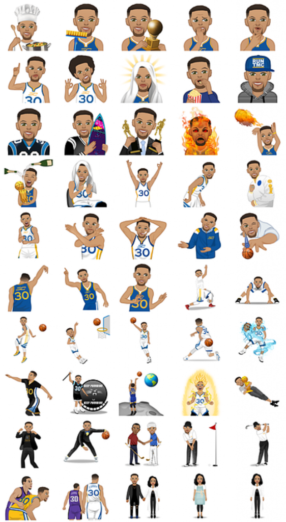 """the best attitude bda8f b063f Stephen Curry Debuts His """"StephMoji"""" App Featuring Animated Versions ..."""