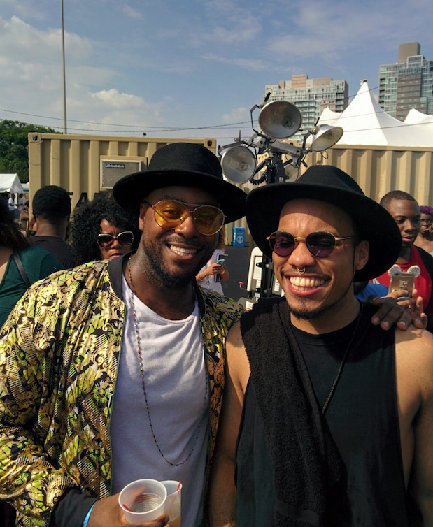 Jodie with Anderson Paak at The Roots Picnic.