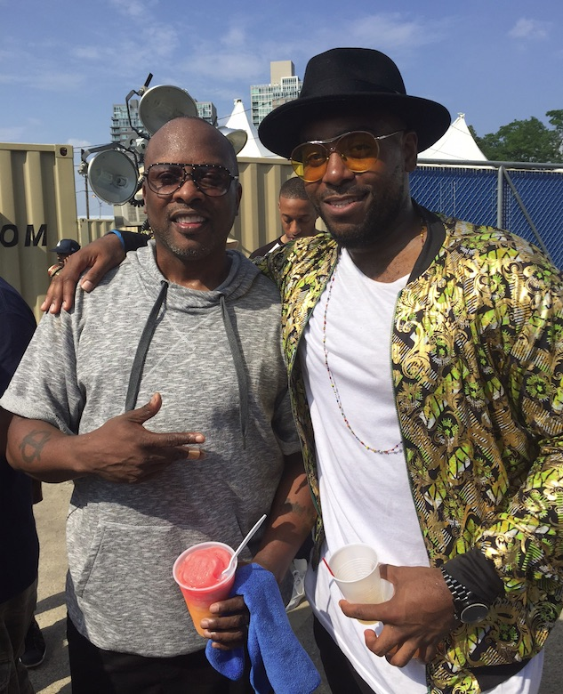 Jodie with Jazzy Jeff at The Roots Picnic.