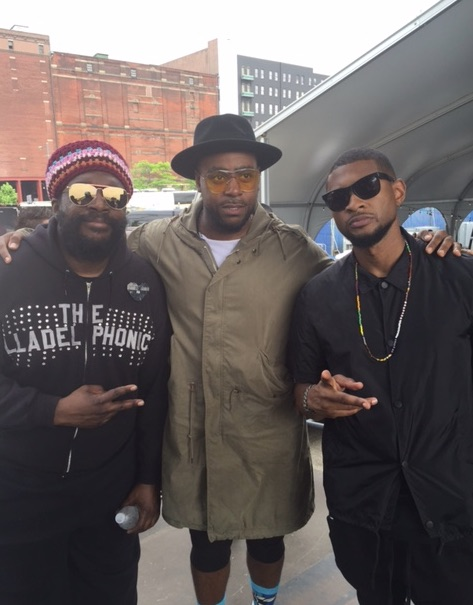Jodie with Questlove and Usher.