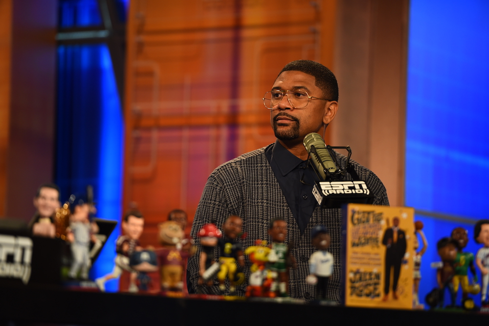 Bristol, CT - October 8, 2015 - Studio E: Jalen Rose on the set of Mike & Mike (Photo by Joe Faraoni / ESPN Images)