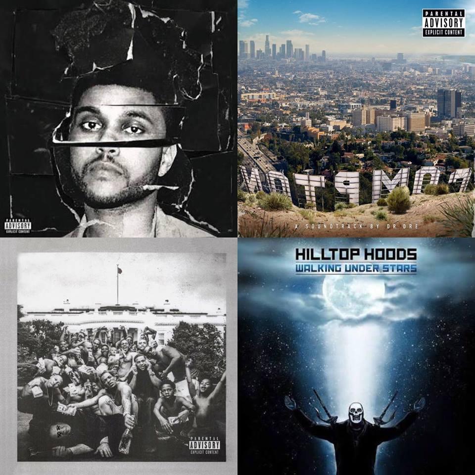 Top 10 Urban Albums in Australia 2015