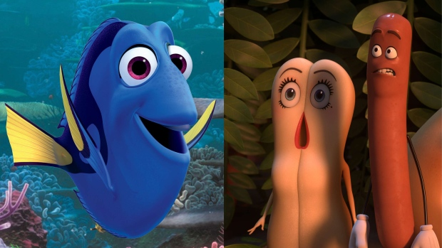 finding dory sausage party mix up