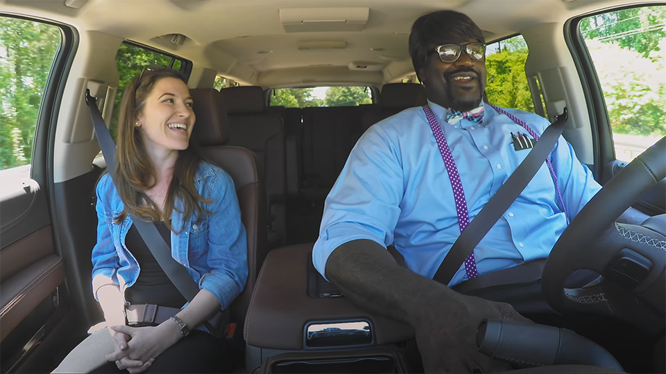 shaquille oneal hilarious undercover lyft driver