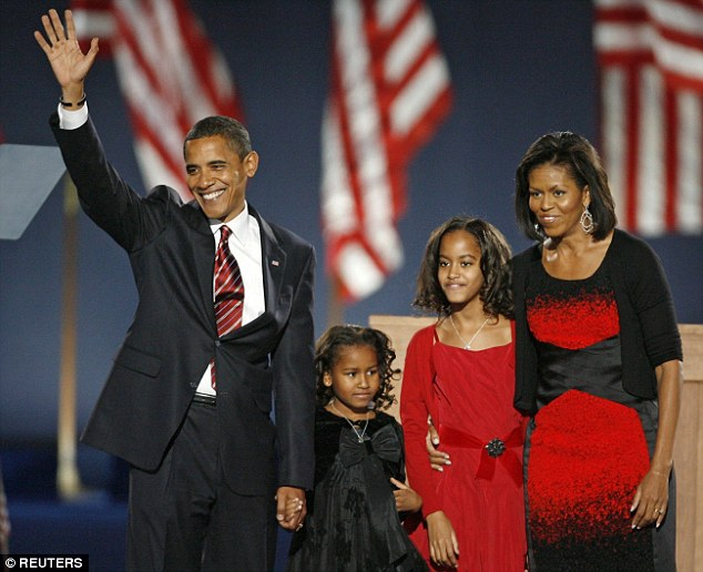 DACDC  What a difference time makes Malia then nine years old second ri a