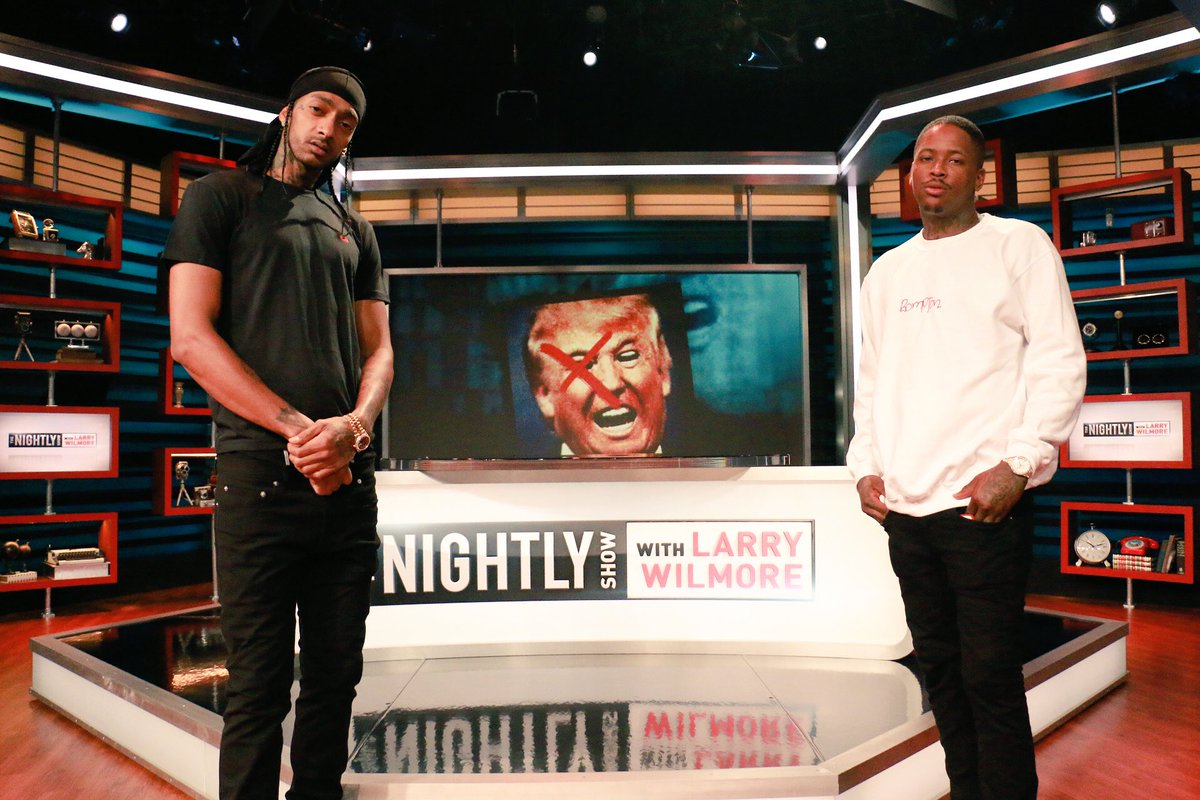 "Watch YG and Nipsey Hussle Perform ""F**k Donald Trump"" On The Nightly Show"