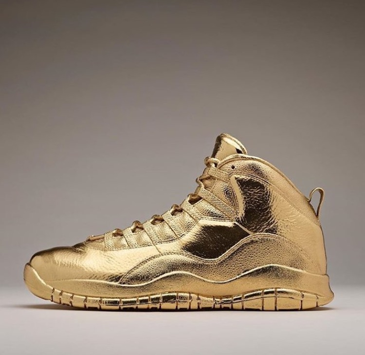 ICYMI: Drake's 24K Gold Pair of Air Jordan OVO 10's