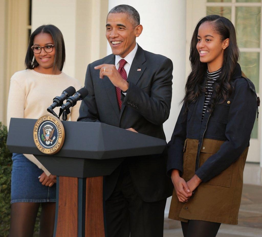 Sasha Malia Obama Wearing American Apparel
