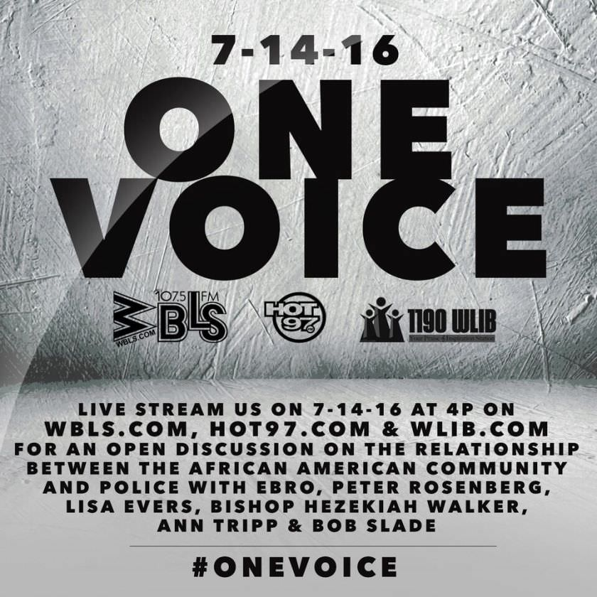 one voice open discussion, hot 97