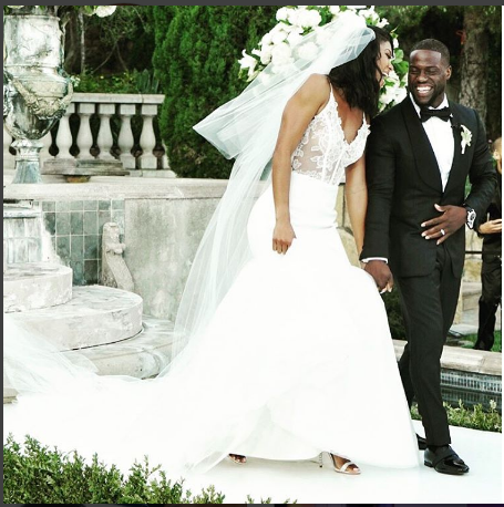 Comedian Kevin Hart weds longtime girlfriend in California