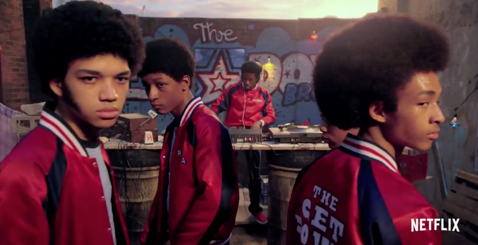 Jaden Smith (Right), Plays Dizzy in The Get Down.