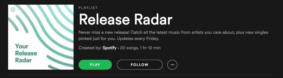 Release Radar