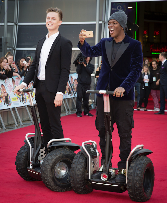 KSI and his co-star Caspar Lee arrive at their movie premier. All Photos Courtesy -James Gillham.