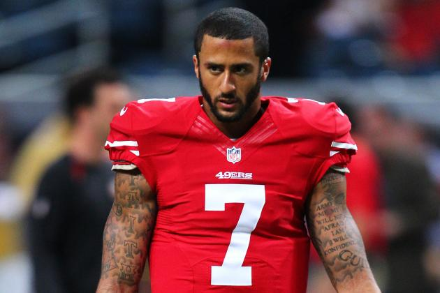 hi res  colin kaepernick of the san francisco ers warms up crop north