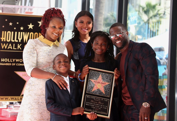 Comedian Kevin Hart is honored with a star on the Hollywood Walk of Fame  Featuring: Kevin Hart, Eniko Parrish, Hendrix Hart, Heaven Hart Where: Hollywood, California, United States When: 10 Oct 2016 Credit: FayesVision/WENN.com