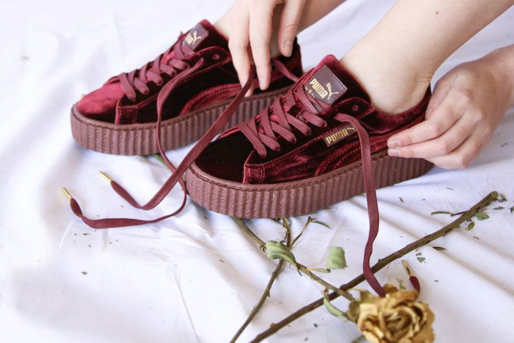 d0ce7e7ceb5 Style Sector  How-To-Wear Rihanna Puma Fenty Velvet Creepers