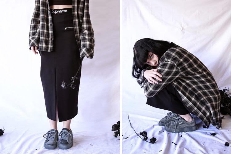 cheaper 4cce6 82e92 Style Sector: How-To-Wear Rihanna Puma Fenty Velvet Creepers ...