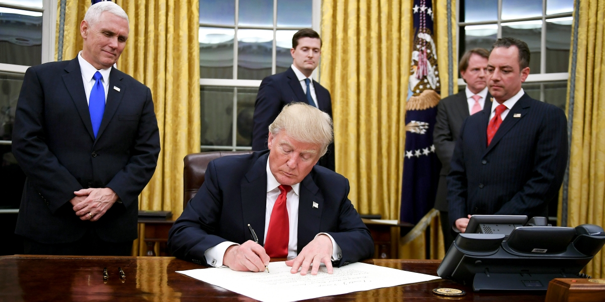 News National Donald Trump Backlash for Executive Orders Blocking Abortion Funding