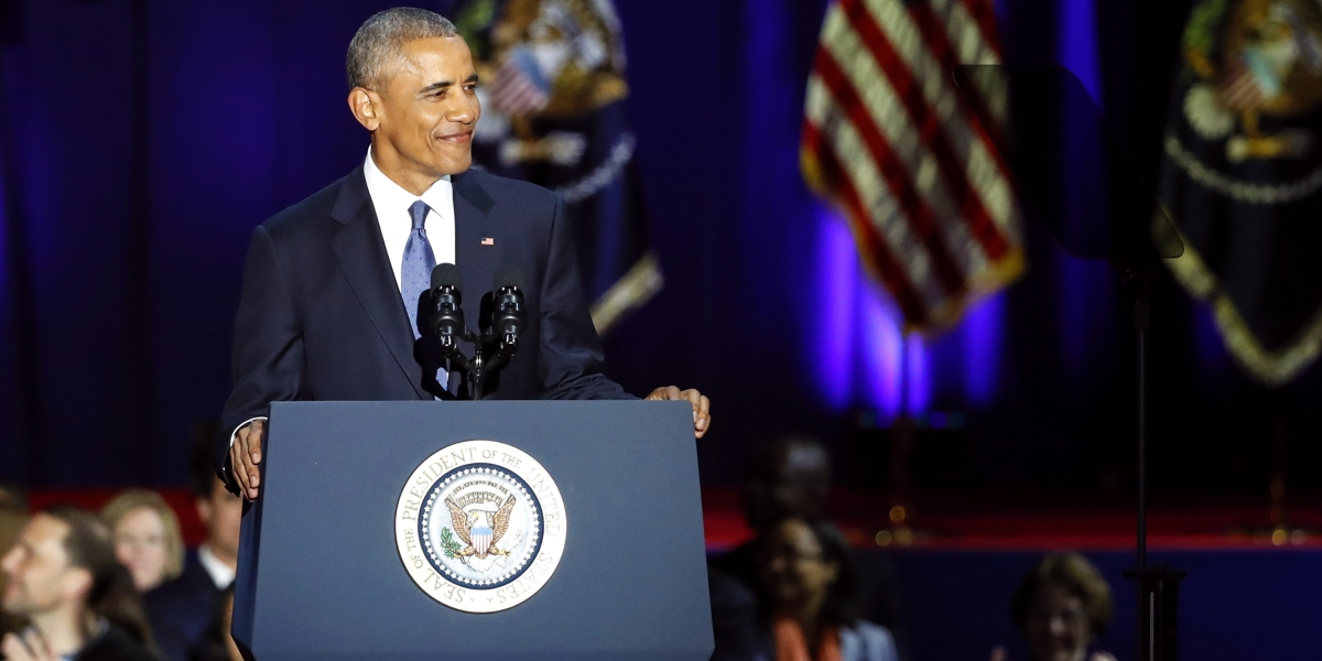 news article president obama addresses the country for the final time