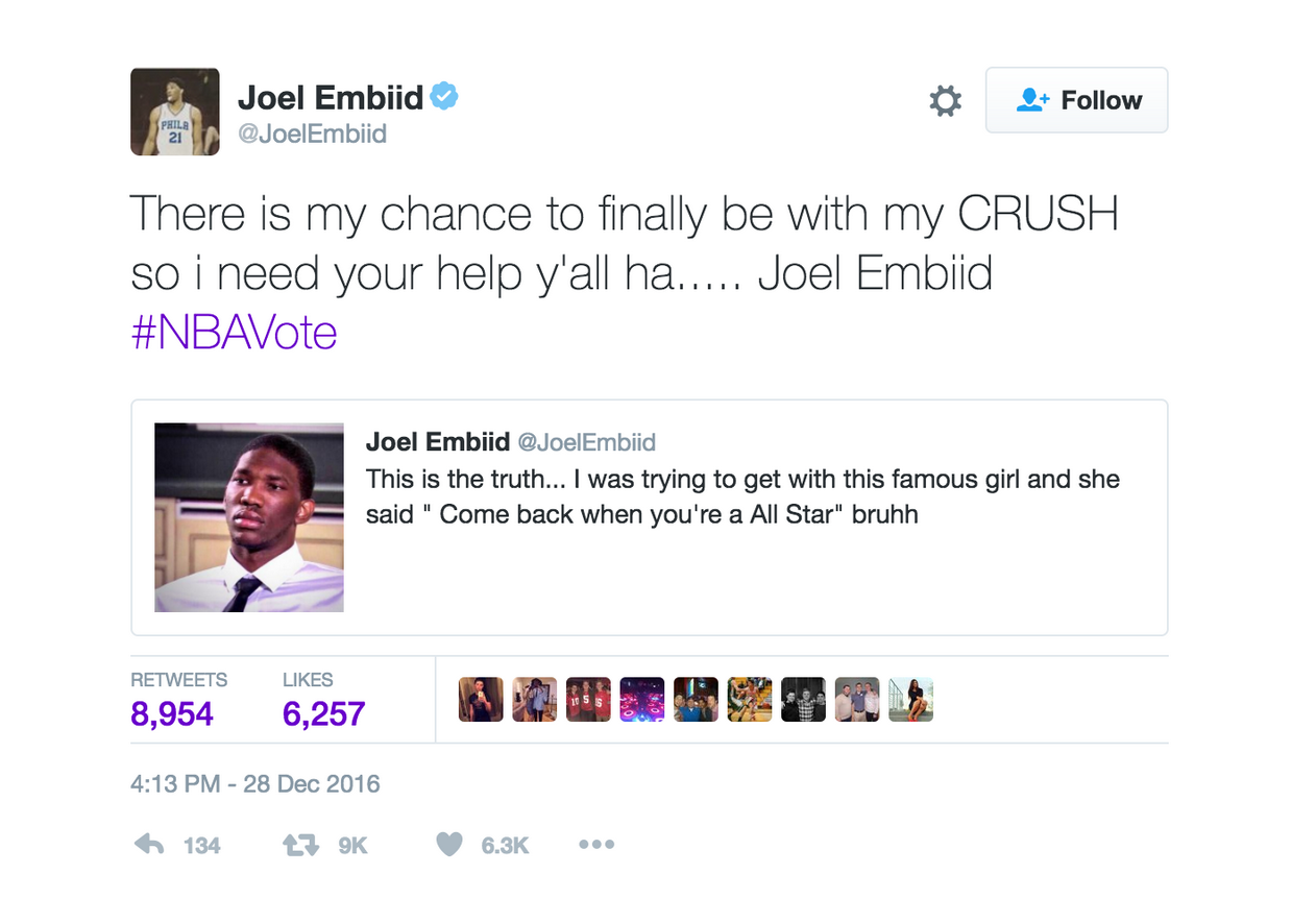 Joel embiid for dating a white girl on ig