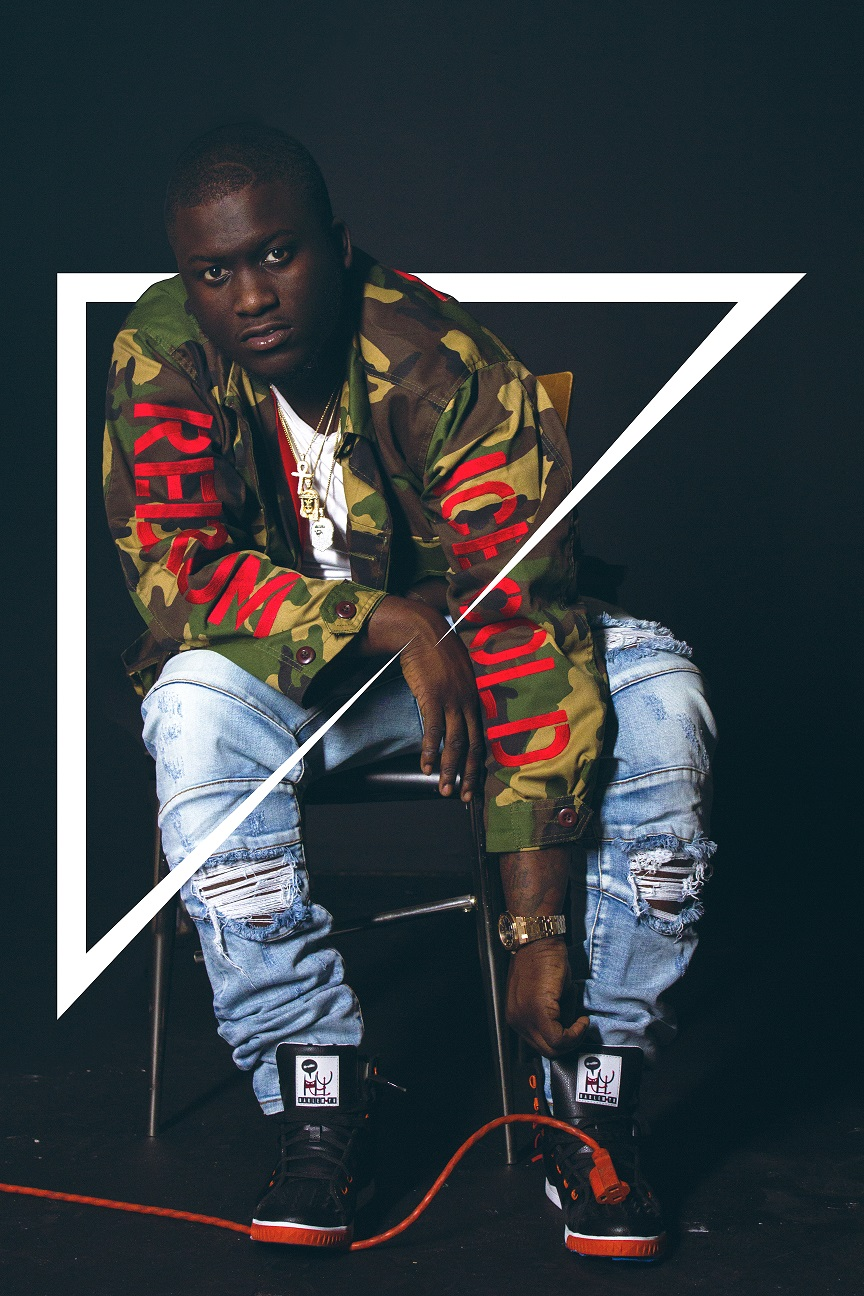 Zoey-Dollaz-Camo-Jacket-and-special-edition-KRUZIN-footwear-red-and-black-crazy-horse-high-top