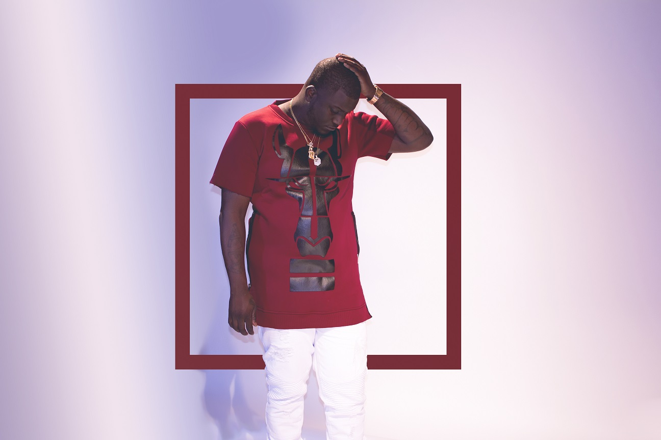 Zoey Dollaz red outfit white background horizontal