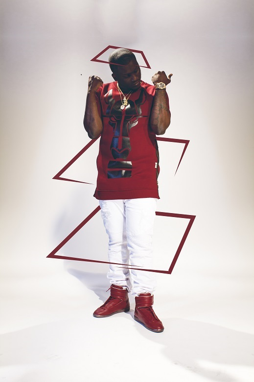Zoey Dollaz red outfit white background