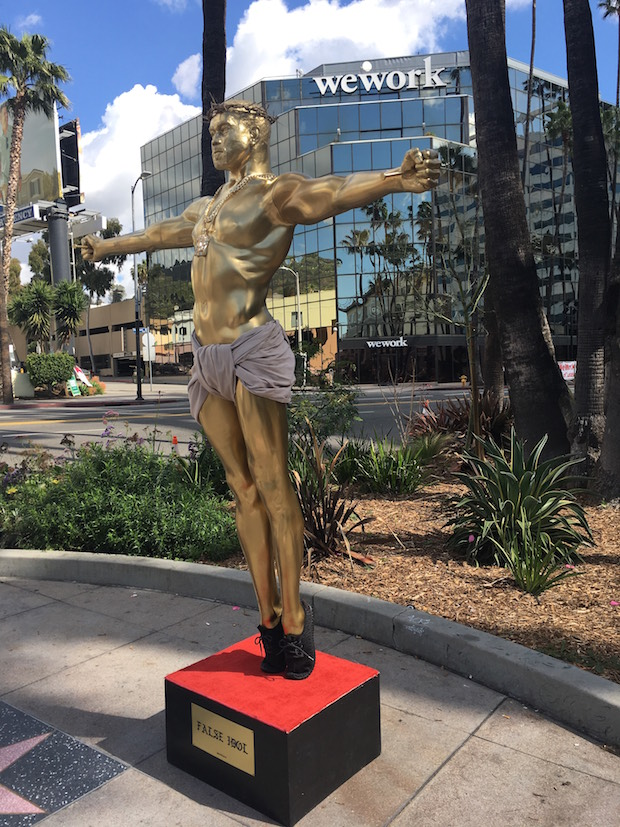 "Life-size ""Yeezus"" Statue Appears On Hollywood Boulevard"