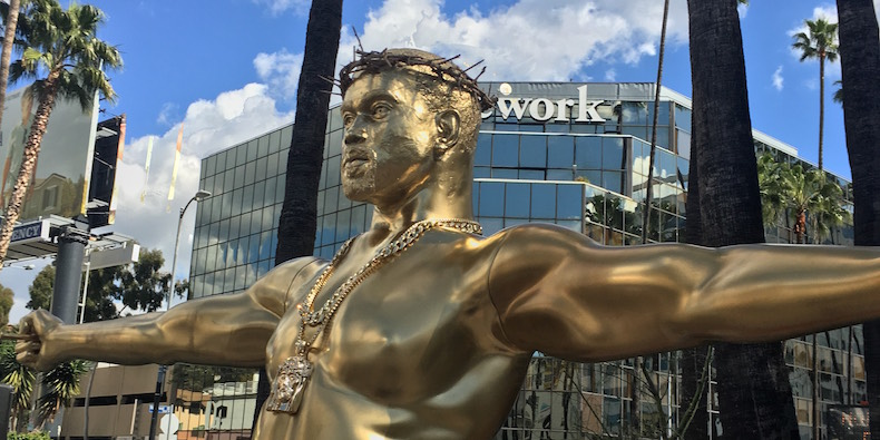 yeezus statue