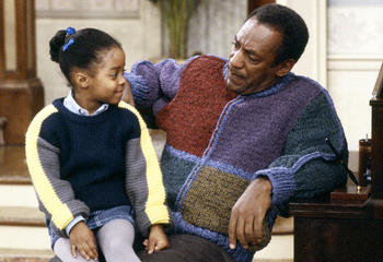 THE COSBY SHOW -- Pictured: (l-r) Keshia Knight Pulliam as Rudy Huxtable, Bill Cosby as Dr. Heathcliff 'Cliff' Huxtable -- Photo by: NBCU Photo Bank