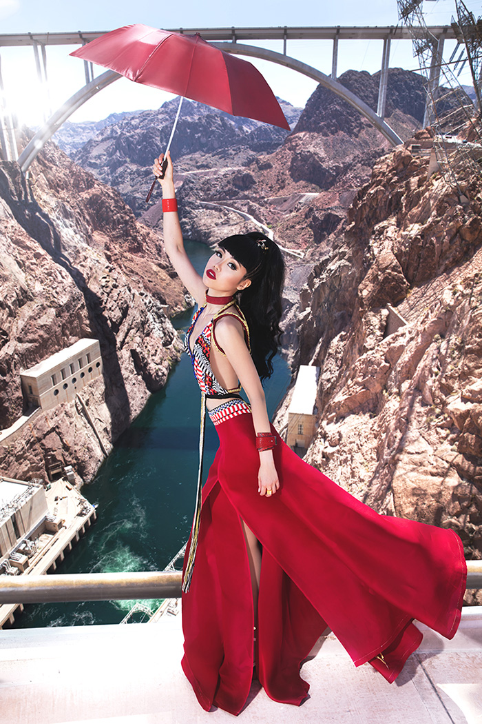(OFFICIAL) Jessica Minh Anh at Hoover Dam USA in Ani Alvarez Calderon 2