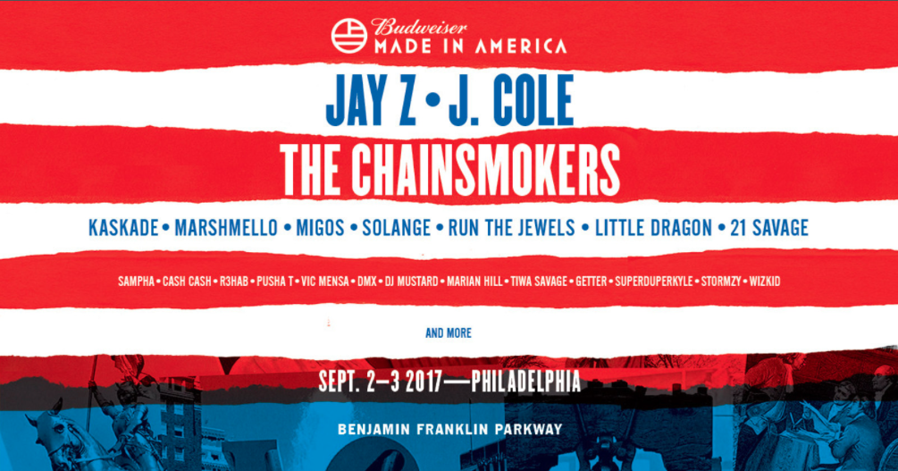 Jay Z, J. Cole Headlining 2017 Made in America Festival