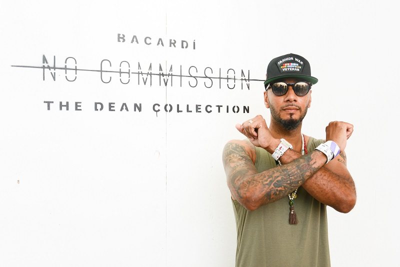 Swizz Beatz at BACARDI Dean Collection Present No Commission Art Performs in the Bronx