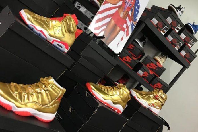 brigetta barrett gold air jordan retro collection