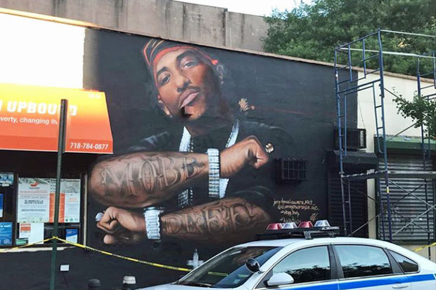 Prodigy honored with queensbridge mural the source for Nas mural queens