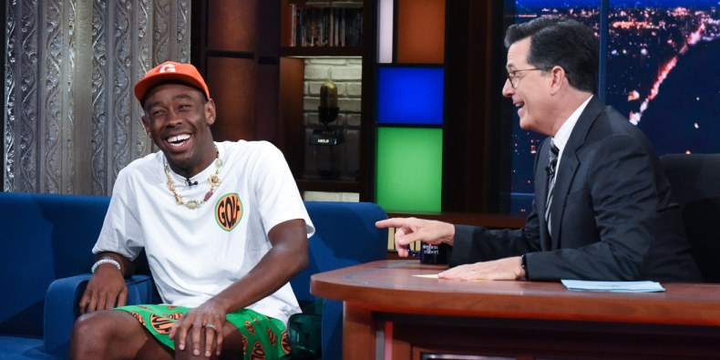 Tyler, the Creator Grabs Stephen Colbert's Butt, Performs '911'