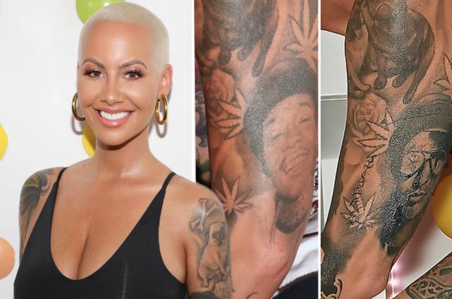 Amber Rose Finally Covers Up Her Wiz Khalifa Tattoo