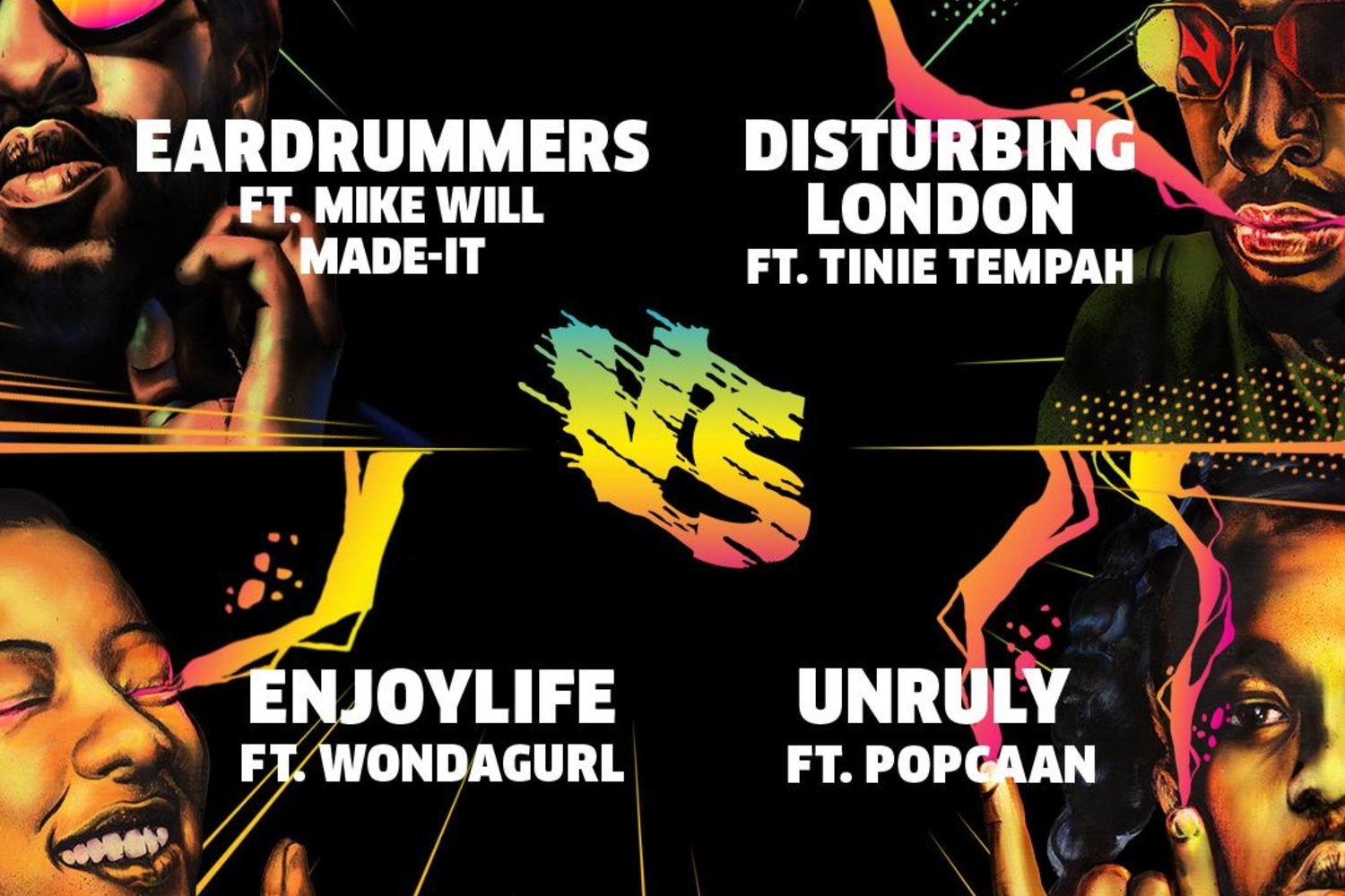 eardrummers disturbing london enjoy life and unruly battle in red bull culture clash atlanta