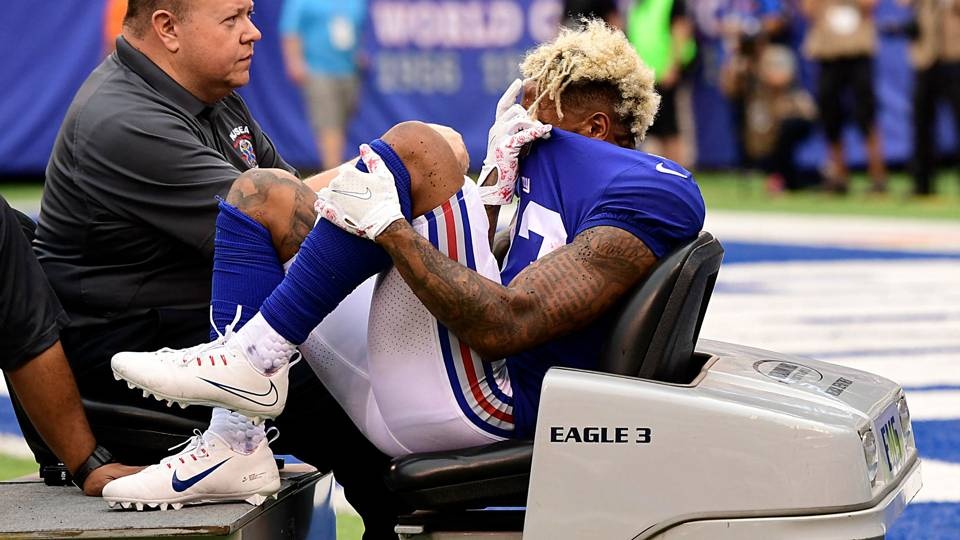 Odell Beckham Jr Breaks Ankle, Season and Pay Day In Doubt
