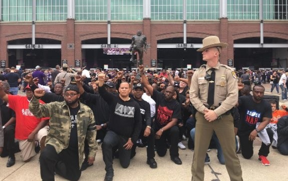Protest For Equality and Support For Kaepernick Took Place Before Ravens Home Game